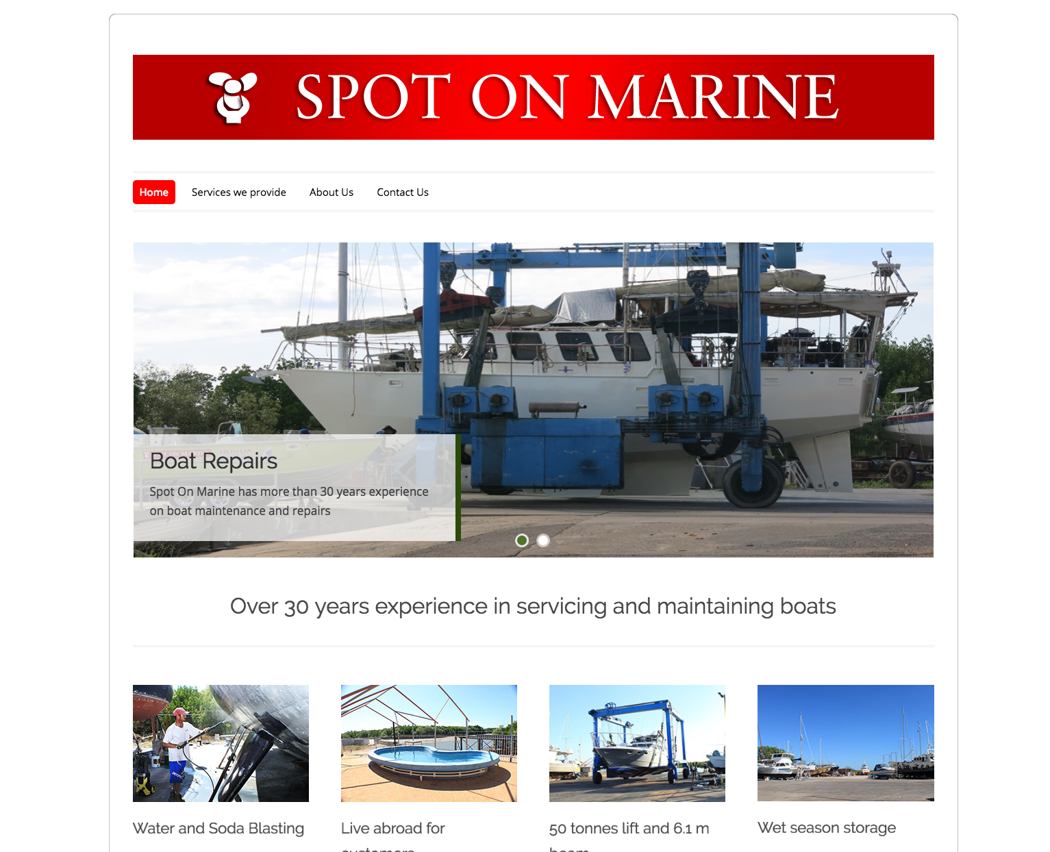 Website Spot On Marine